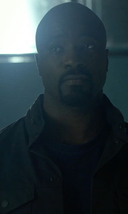 Mike Colter with Michael Kors  Field Coat in Marvel's Luke Cage