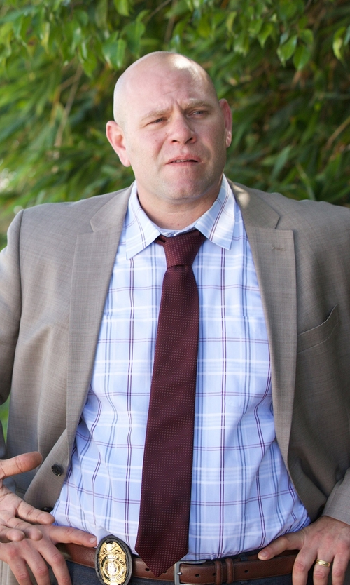 Domenick Lombardozzi with Golden Fleece Madison Glen Plaid Sport Shirt in Rosewood