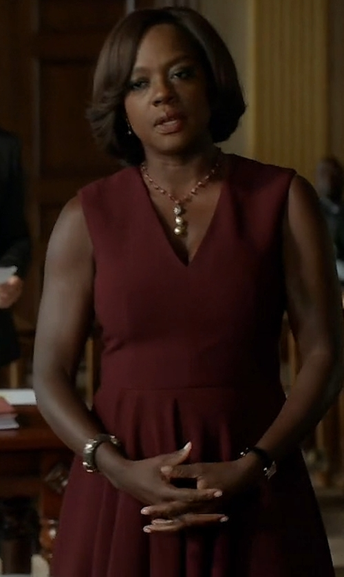 Viola Davis with Alexander McQueen Asymmetric Drape Dress in How To Get Away With Murder