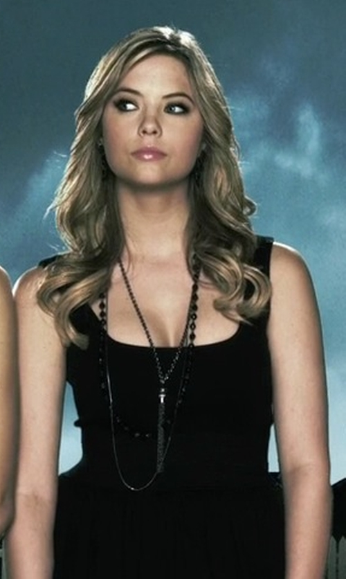 Ashley Benson with Panacea Agate Tassel Necklace in Pretty Little Liars