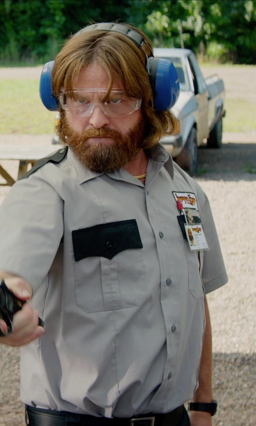 Zach Galifianakis with 3M Peltor Ultimate 10 Hearing Protector in Masterminds