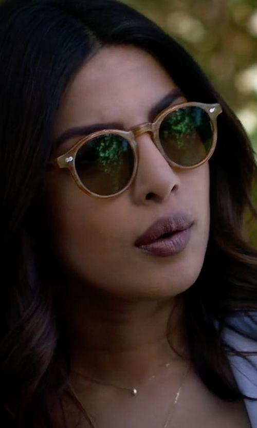 Priyanka Chopra with Ray Ban Rb2180 Round Sunglasses in Quantico