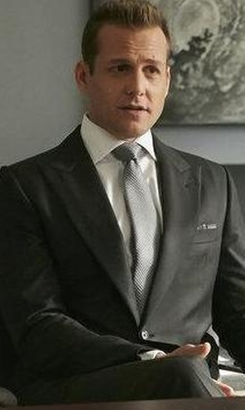 Gabriel Macht with Armani Collezioni Solid Silk Tie in Suits