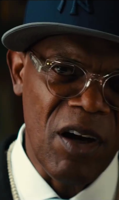 Samuel L. Jackson with King Baby Studio White Coral Bead Necklace with White Bone Skull in Kingsman: The Secret Service