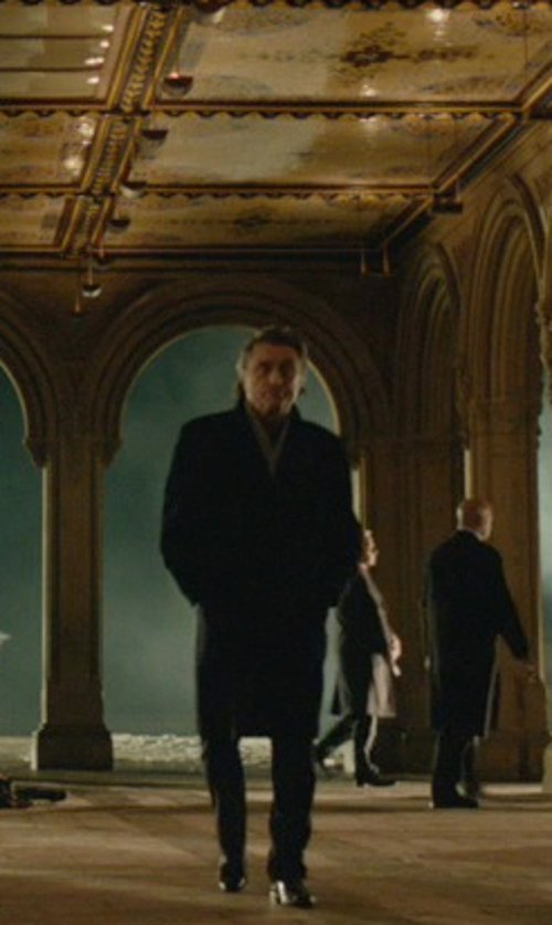Ian McShane with Cashmere Boutique Full Length Overcoat in John Wick
