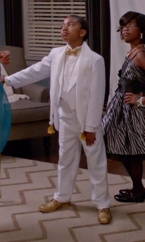 Miles Brown with Lito Boys Tailcoat Tuxedo in Black-ish