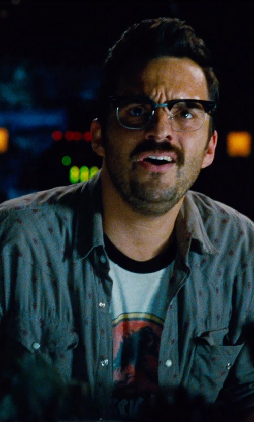 Jake Johnson with Salt Valley Terrence Western Shirt in Jurassic World
