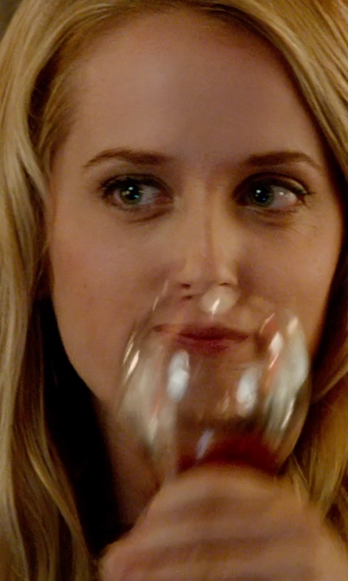 Megan Park with Riedel Wine Series Cabernet/Merlot Glass in What If