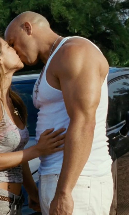 Vin Diesel with Incotex Ray Garment-Dyed Gaberdine Pants in Fast Five