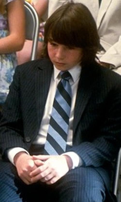 Jonah Bobo with Gitman Stripe Silk Tie in Crazy, Stupid, Love.