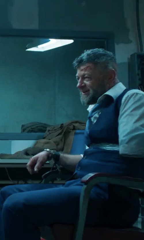 Andy Serkis with Sene Dress Trousers in Black Panther