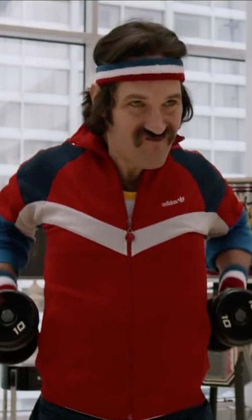 Paul Rudd with GOGO Patriot Style / NBA Style Stripe Sweatband Set in Anchorman 2: The Legend Continues