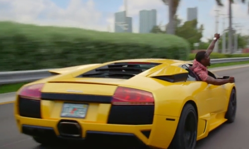 Ice Cube with Lamborghini Murcielago LP670 Super Veloce Sports Car in Ride Along 2