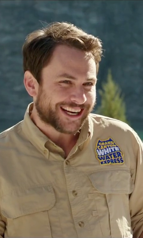 Charlie Day with Carhartt Men's Flame Resistant Classic Twill Shirt in Vacation