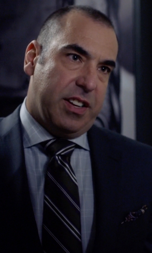Rick Hoffman with Bruno Piatelli Silk Pocket Square in Suits