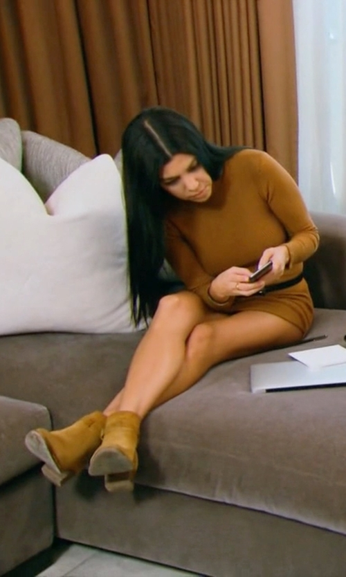 Kourtney Kardashian with Laurence Dacade Pete Suede Ankle Boots in Keeping Up With The Kardashians