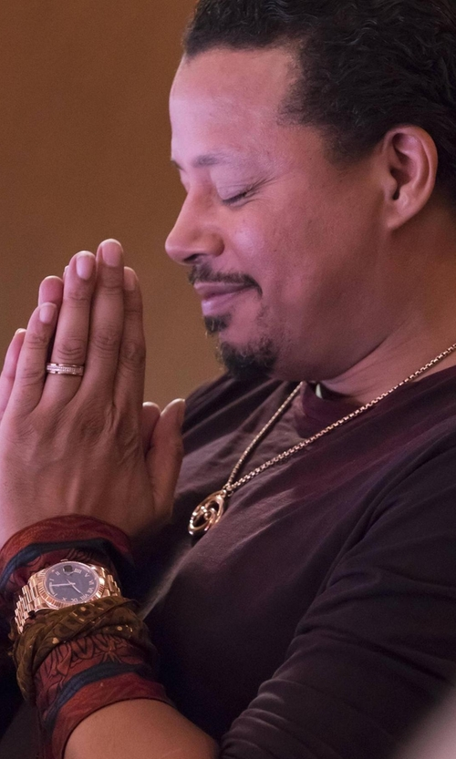 Terrence Howard  with Rolex Day Date II President Watch in Empire