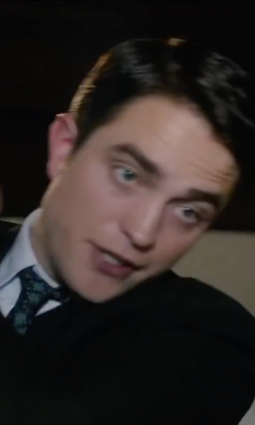 Robert Pattinson with Canali Floret Medallion Classic Tie in Life