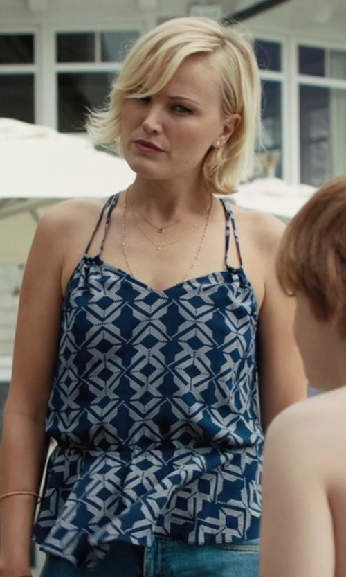 Malin Akerman with Ella Moss Lorelei Cutout Tank Top in Billions