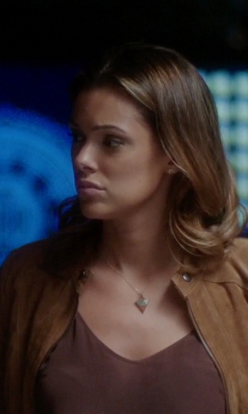 Anabelle Acosta with BlankNYC Suede Leather Jacket in Quantico