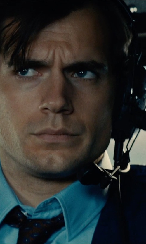 Henry Cavill with Telex Stratus Heli-XT ANR Aviation Headset in The Man from U.N.C.L.E.