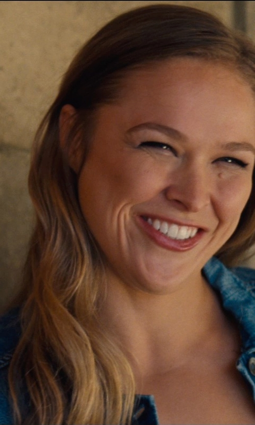 Ronda Rousey with Yoga Jeans by Second Denim Jean Jacket in Entourage