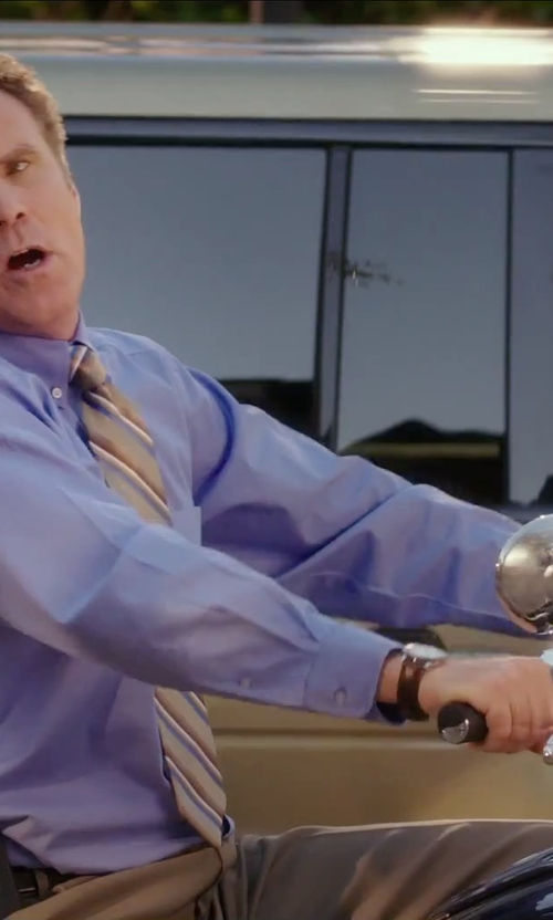 Will Ferrell with Skagen 'Holst' Multifunction Leather Strap Watch in Daddy's Home