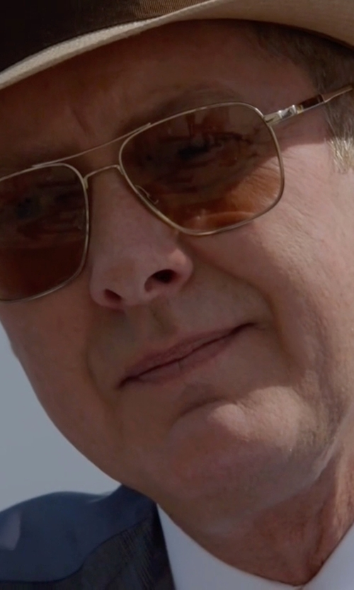 James Spader with Oliver Peoples De Oro Polarized Sunglasses in The Blacklist