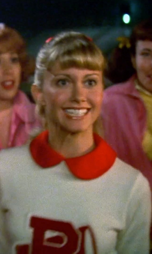 Olivia Newton-John with Urban Outfitters Cooperative Ponte Collared Dress in Grease