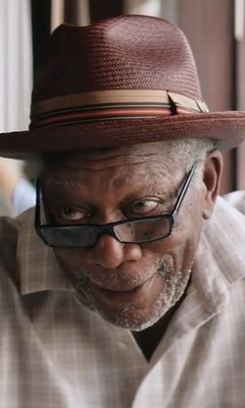 Morgan Freeman with Barbour Charles Checkered Long Sleeve Shirt in Going In Style
