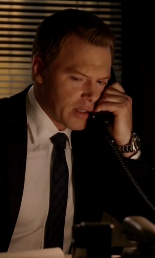 Diego Klattenhoff with Movado 'Bold' Chronograph Bracelet Watch in The Blacklist