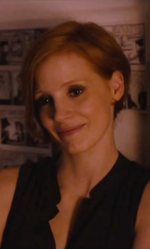 Jessica Chastain with NYDJ Woven Sleeveless Top in The Disappearance of Eleanor Rigby