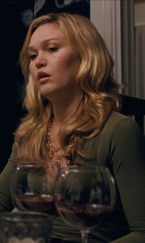 Julia Stiles with Deargirl Sexy Long Sleeve V Neck Dress in Silver Linings Playbook