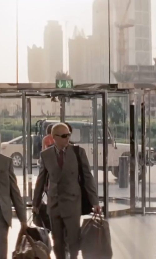 Simon Pegg with Tom Ford Shiny Metal Sunglasses in Mission: Impossible - Ghost Protocol