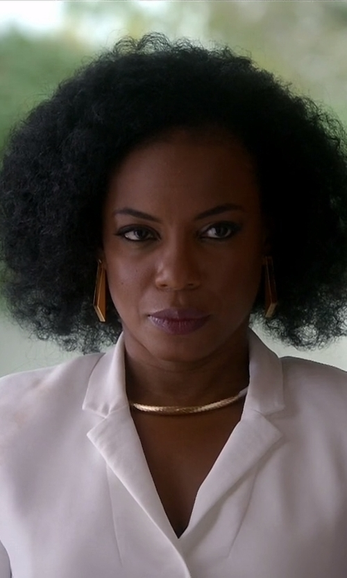 Aunjanue Ellis with The Row School Boy Blazer in Quantico