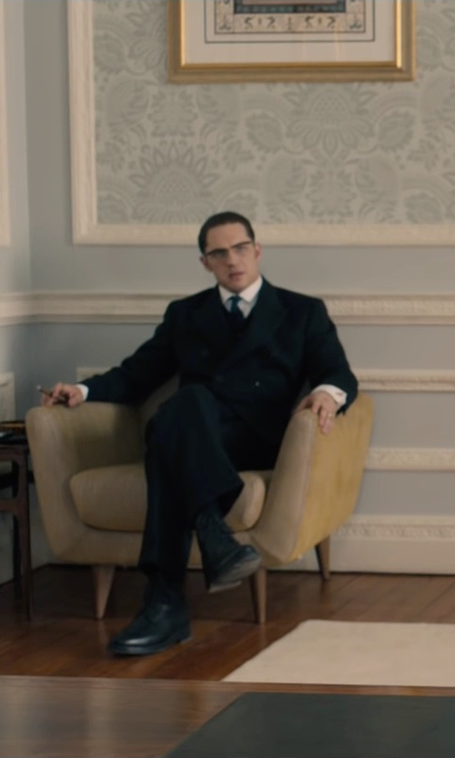 Tom Hardy with Gucci Leather Lace Up Oxfords Shoes in Legend