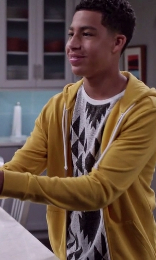 Marcus Scribner with Jaded London Geo-Tribal Print T-Shirt in Black-ish