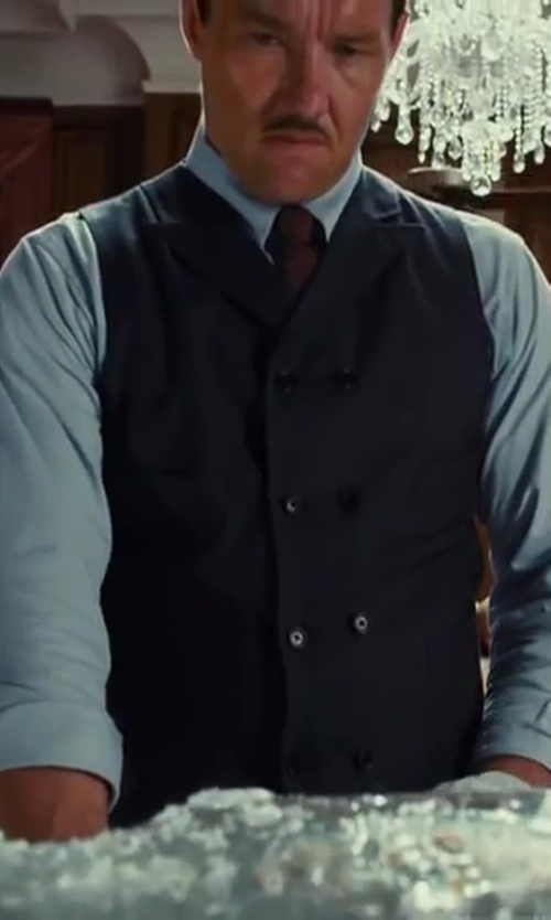 Joel Edgerton with Ziosongzio Double Breasted Waistcoat in The Great Gatsby