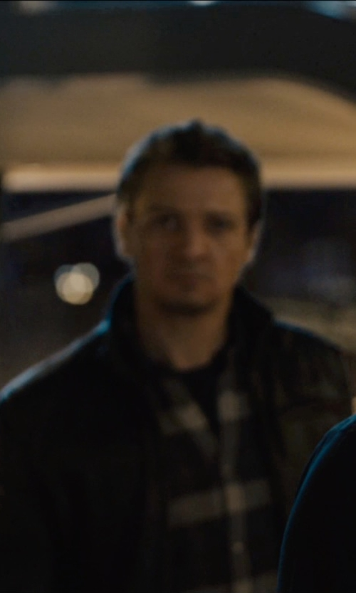 Jeremy Renner with Ralph Lauren Plaid Twill Workshirt in Avengers: Age of Ultron