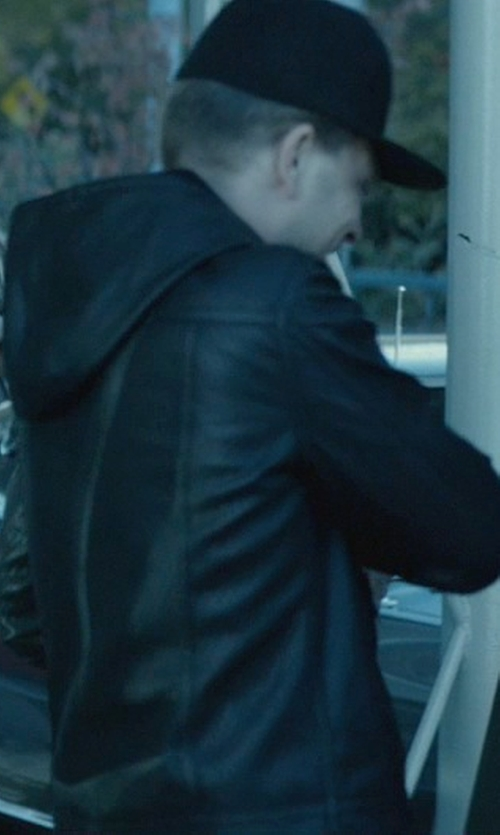 Omer Barnea with Levi's Men's Faux Leather Racer Hoodie Jacket in John Wick