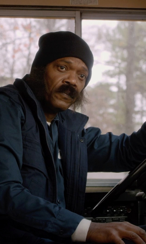 Samuel L. Jackson with Carhartt Hines Long Sleeve Button Front Twill Shirt in Barely Lethal