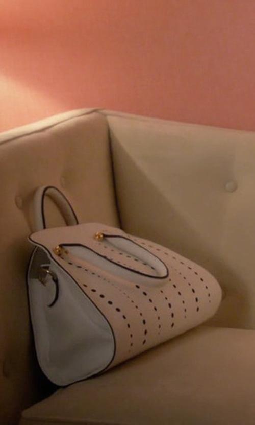 Yael Grobglas with Prada City Calf Double Zip Tote Bag in Jane the Virgin