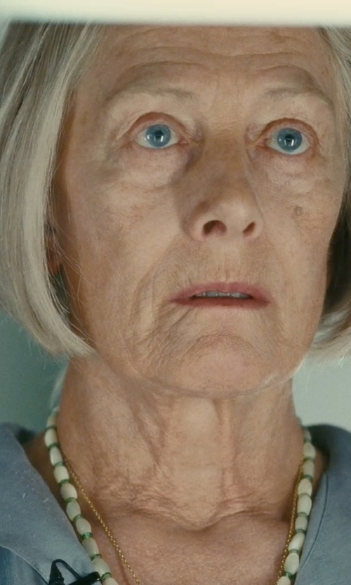 Vanessa Redgrave with Brilliance Cultured Freshwater Rice Pearl Bead Necklace in Atonement