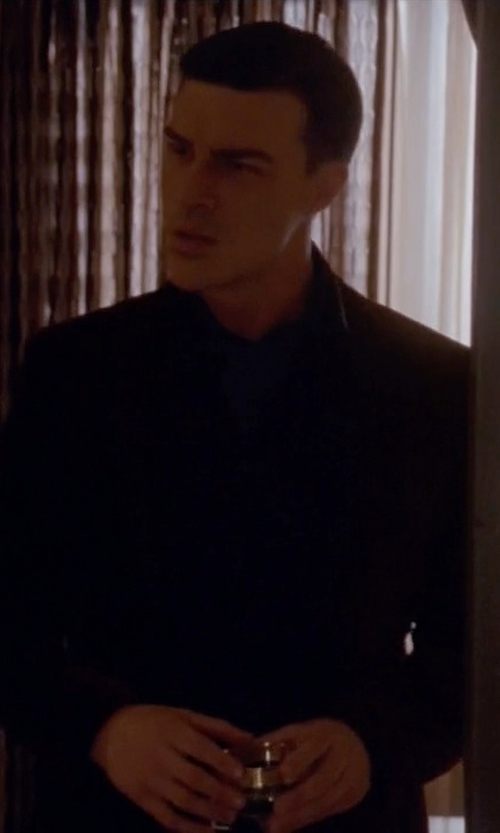 Finn Wittrock with Emperio Armani Two Piece Suit in American Horror Story
