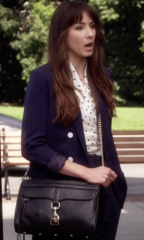 Troian Bellisario with Rebecca Minkoff Mac Clutch Bag in Pretty Little Liars