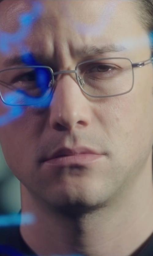 Joseph Gordon-Levitt with Sferoflex Matte Gunmetal Eyeglasses in Snowden