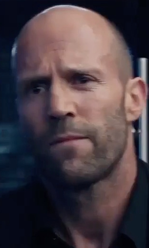 Jason Statham with Tom Ford Shelton Base Mohair Peak-Lapel Two-Piece Suit in The Fate of the Furious