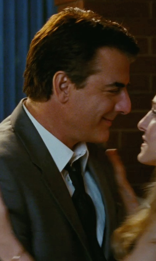 Chris Noth with Brioni Solid Silk Satin Tie in Sex and the City