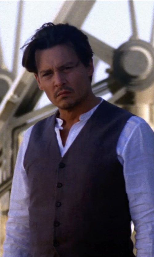 Johnny Depp with SAINT LAURENT formal shirt in Transcendence