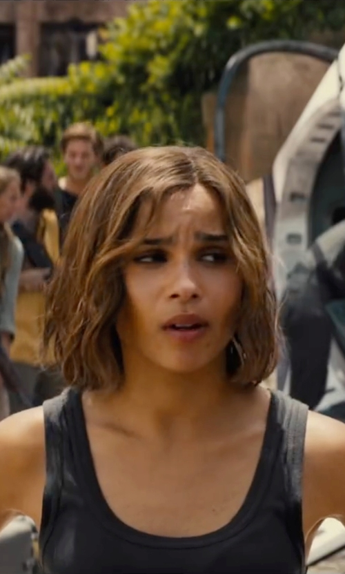 Zoë Kravitz with Paige Denim 'Jessa' Tank Top  in The Divergent Series: Allegiant